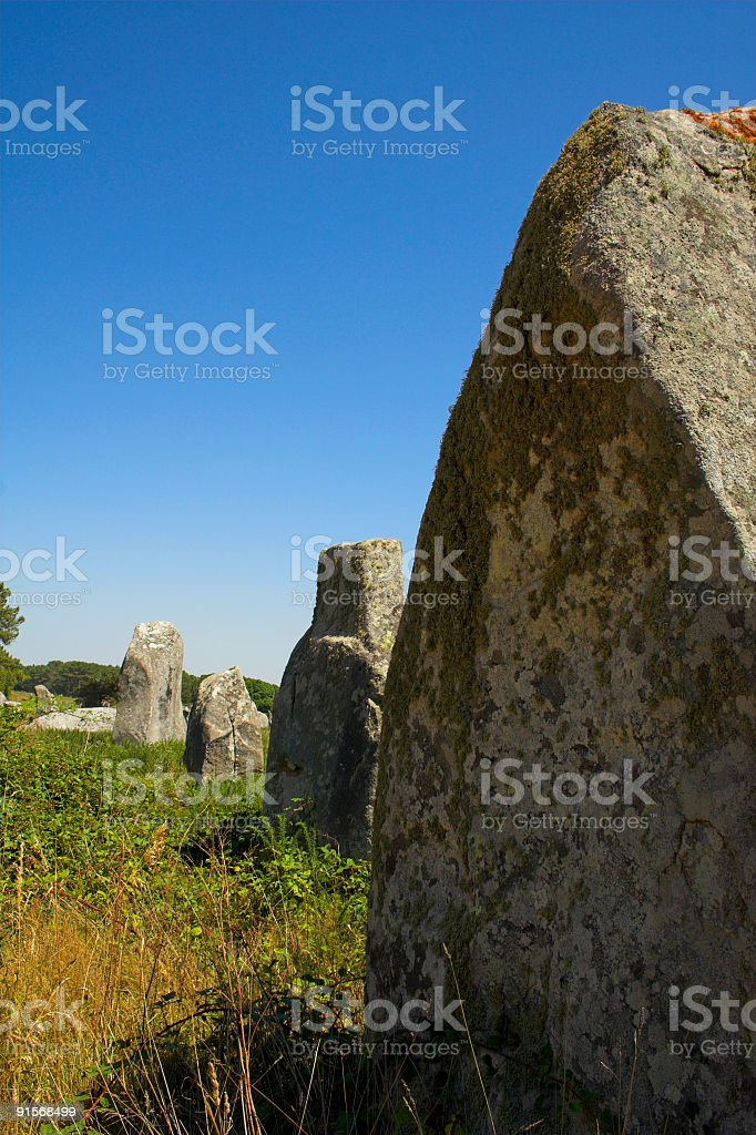 Menhir in Carnac-Brittany royalty-free stock photo