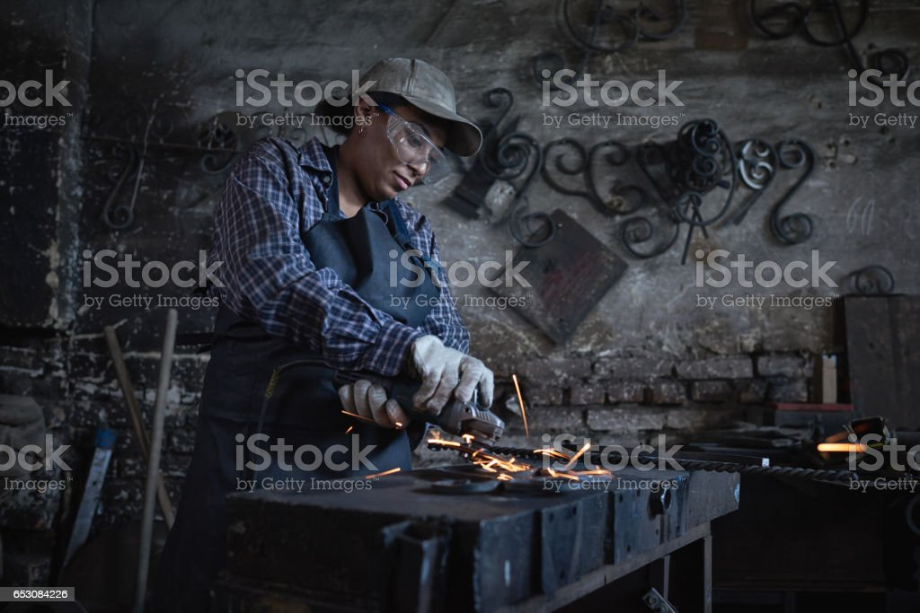Menial work stock photo