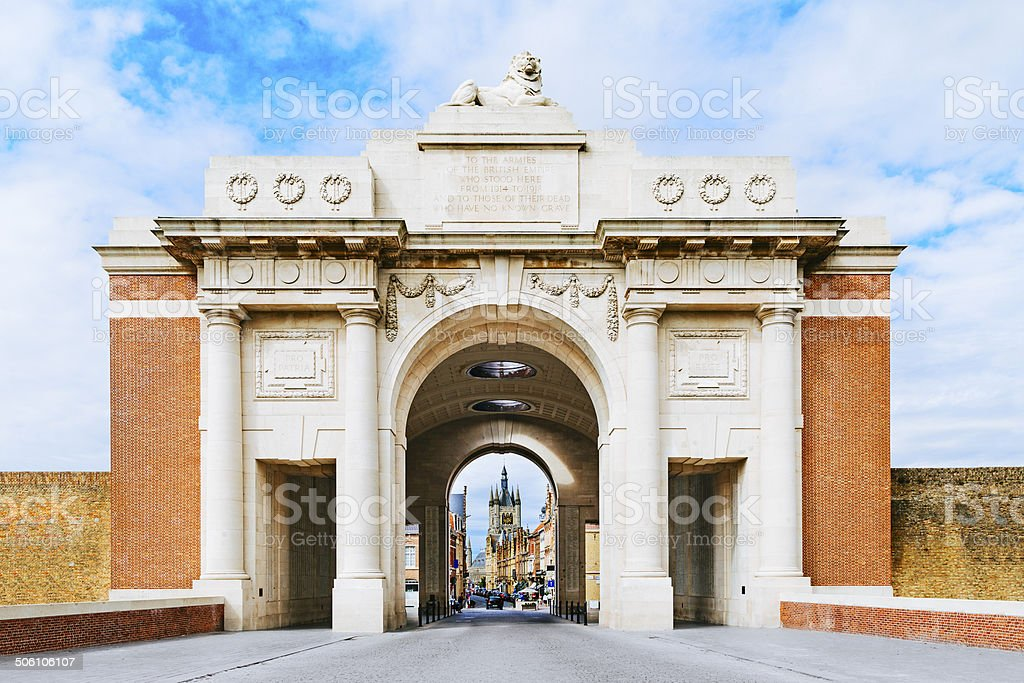 Menin gate, Ypres stock photo