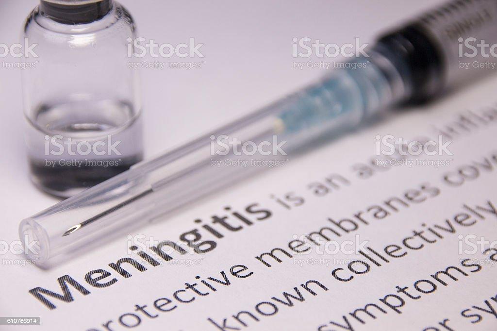 Meningitis Vaccine stock photo