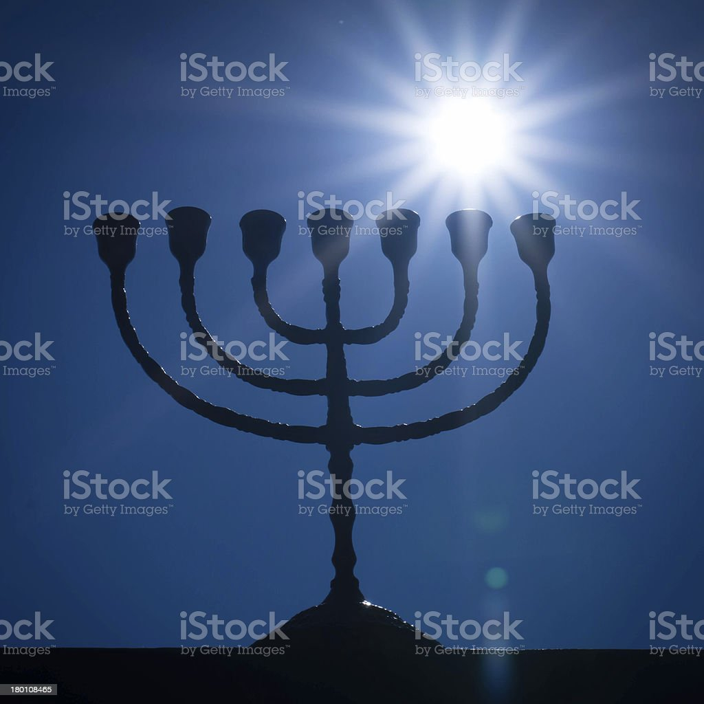 Menorah and the star royalty-free stock photo
