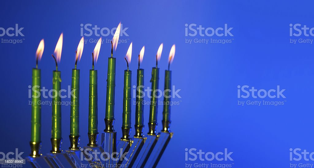 Menorah royalty-free stock photo