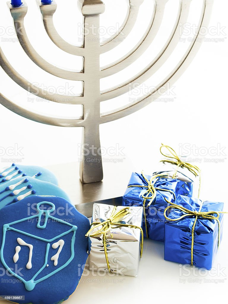Menorah stock photo