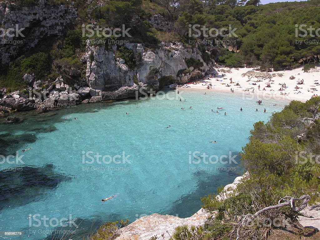 Menorca Beach - Macarelleta royalty-free stock photo