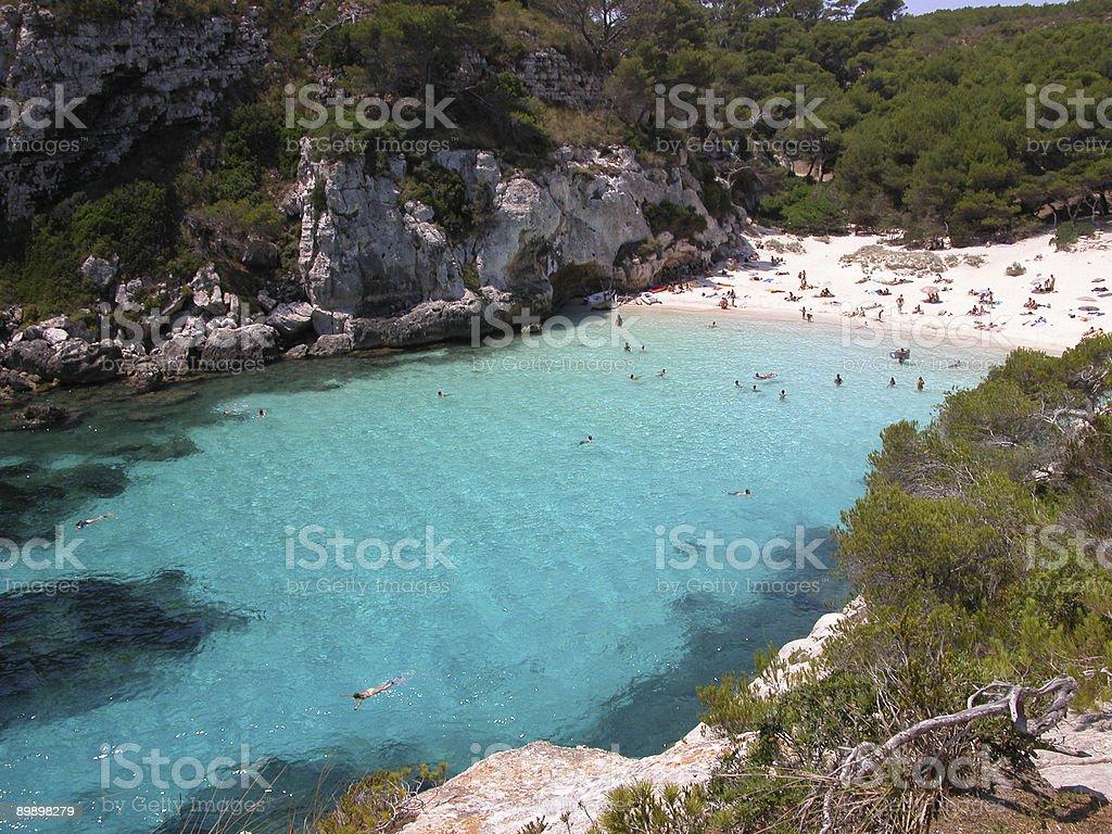 Menorca Beach - Macarelleta stock photo