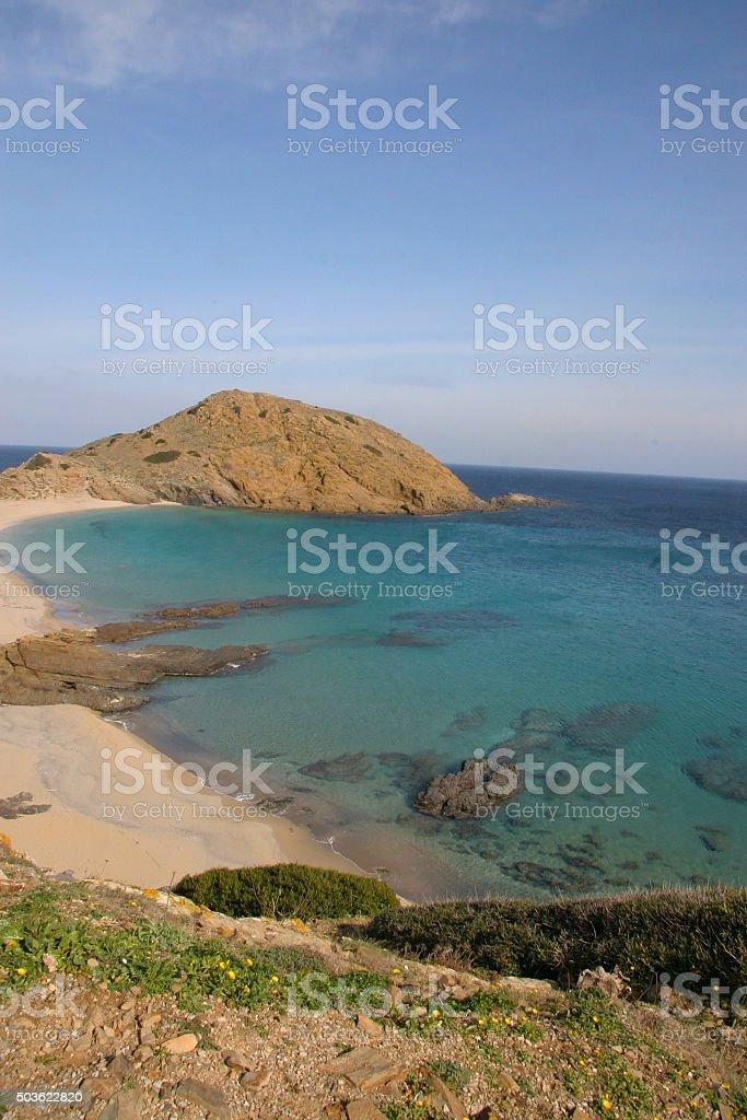 Menorca beach stock photo