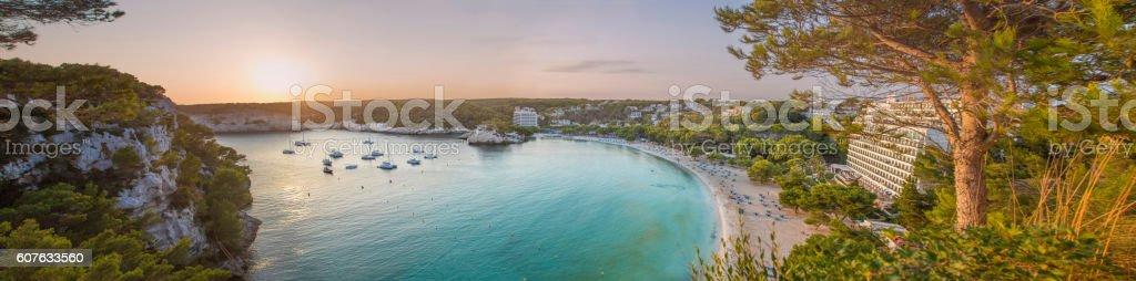 Menorcan sunset stock photo