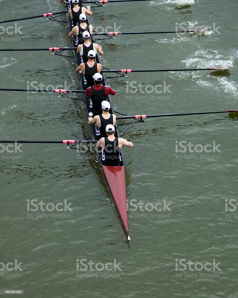 Men's 8-Man Rowing stock photo