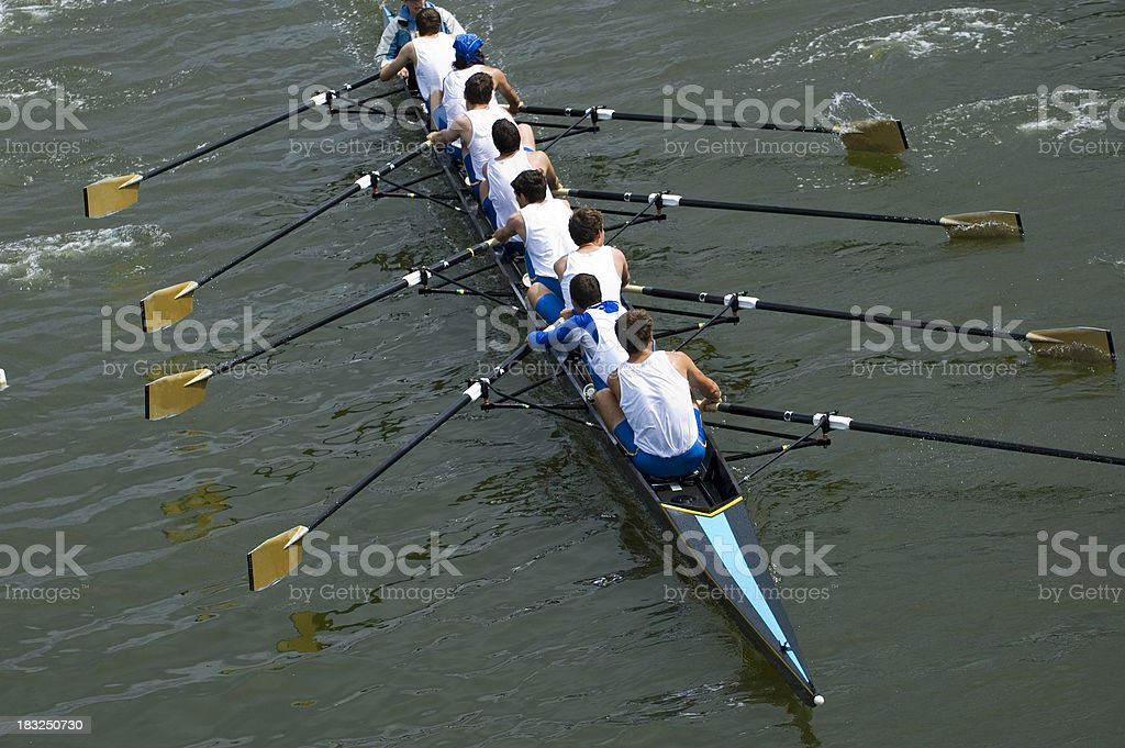 Men's 8-Person Rowing Team royalty-free stock photo