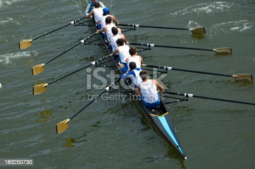 istock Men's 8-Person Rowing Team 183250730
