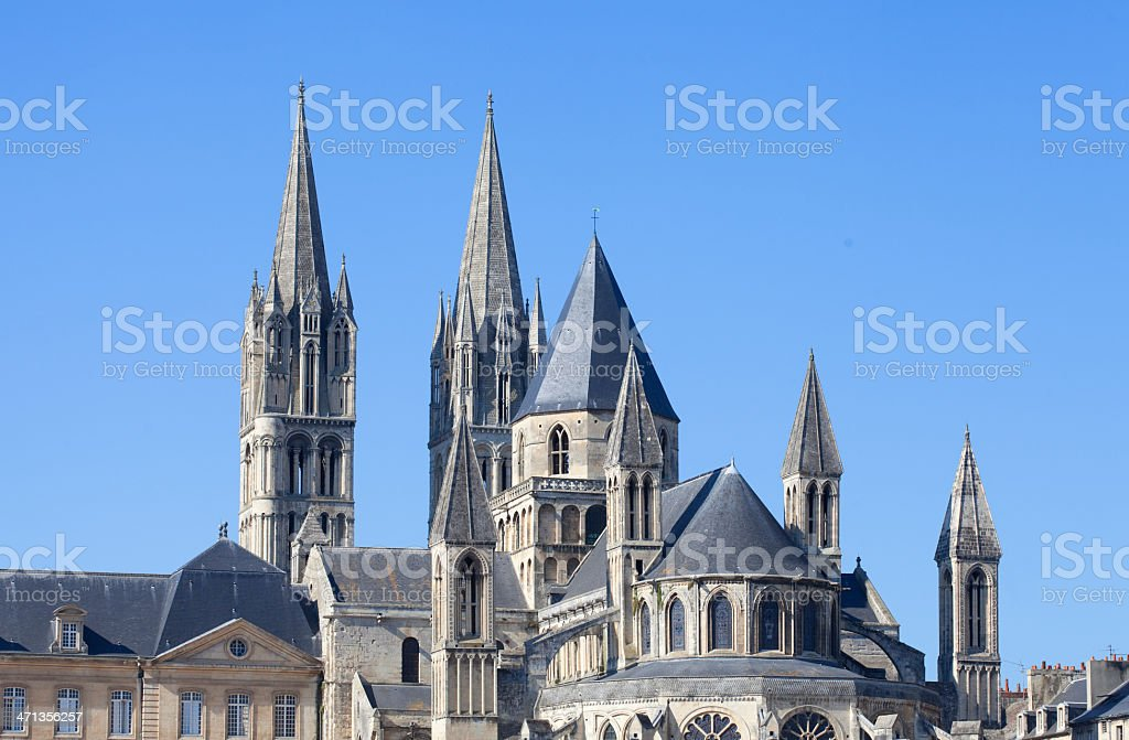Abbaye aux Hommes stock photo