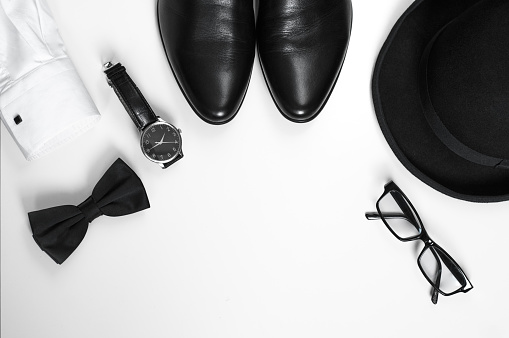 Mens accessories stock photo
