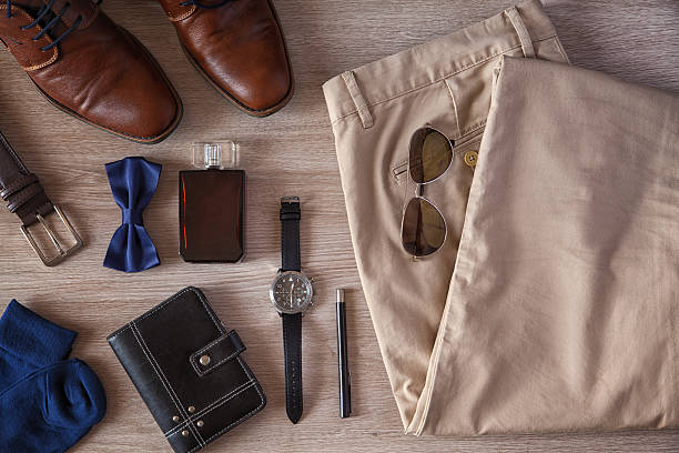 men's accessories - personal accessory stock photos and pictures