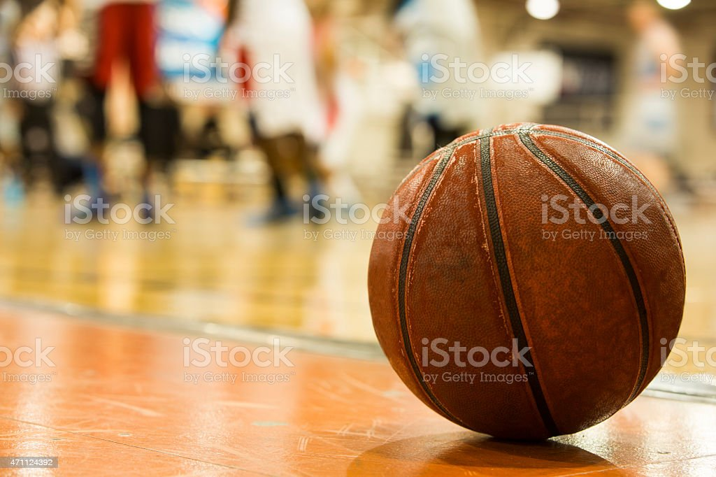 Men's Basketball game stock photo