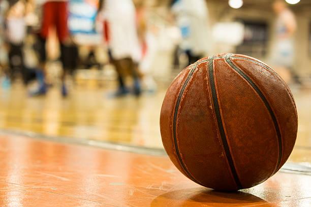 Men's Basketball game stock photo
