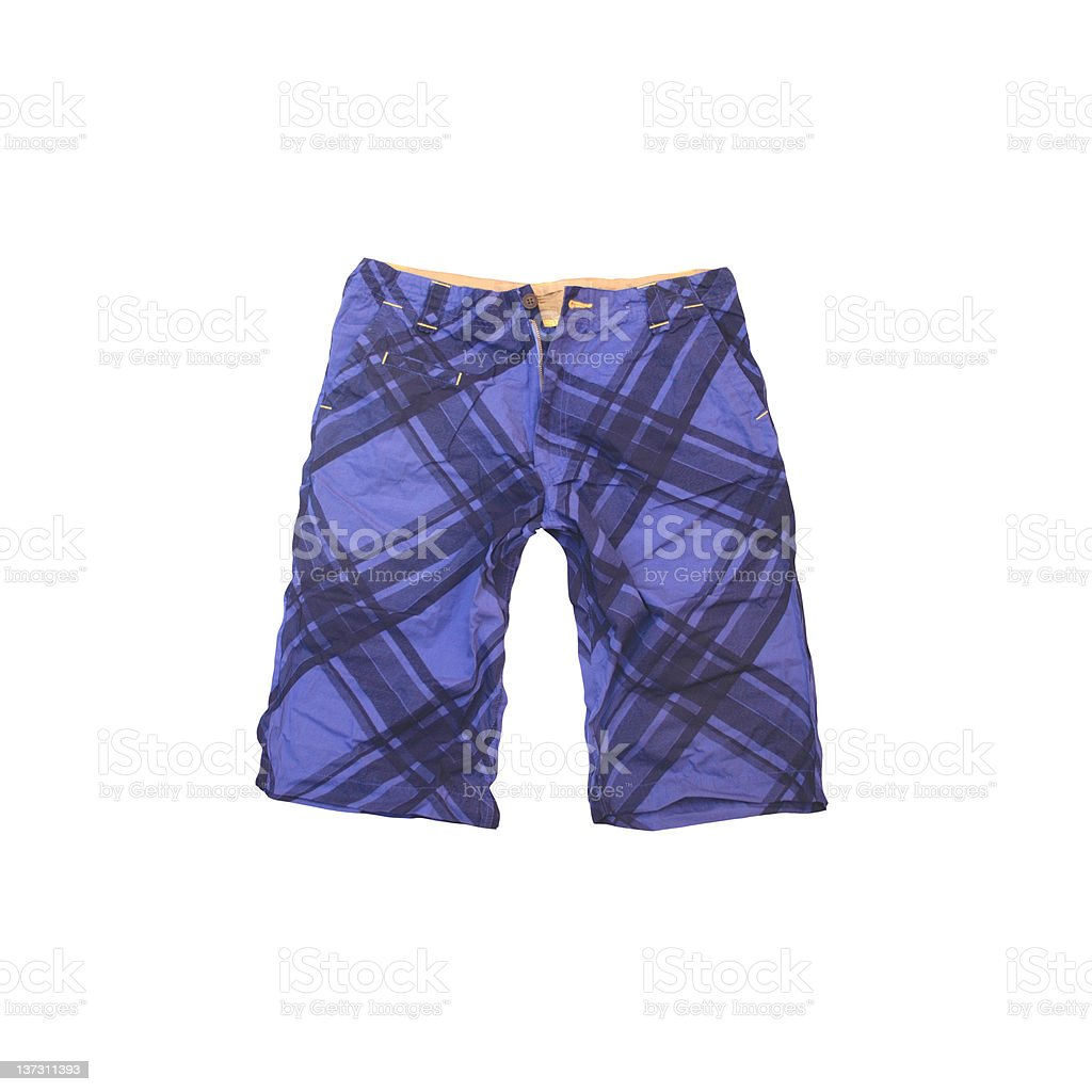 Men's Bathing Suit on White Background stock photo
