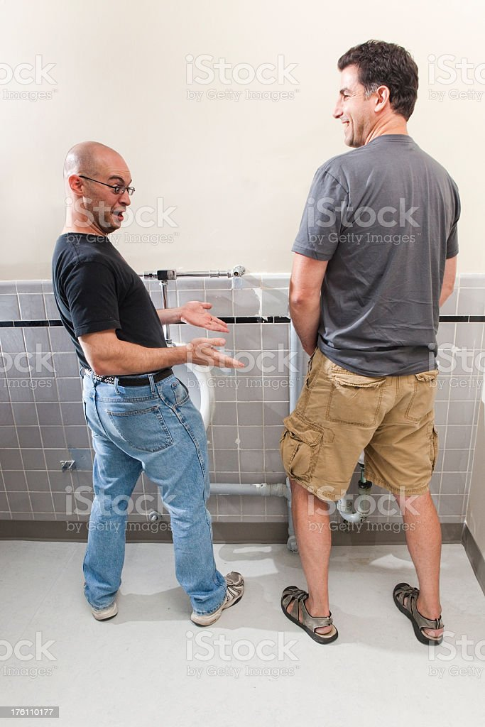 Mens Bathroom Size up royalty-free stock photo