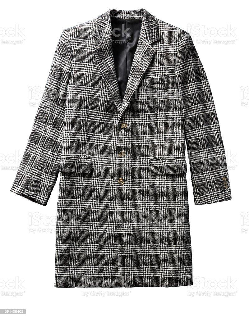men's black coat stock photo
