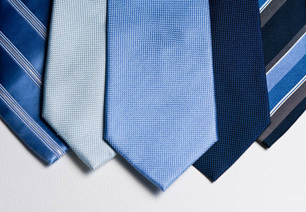 Mens Blue ties landscape layout stock photo