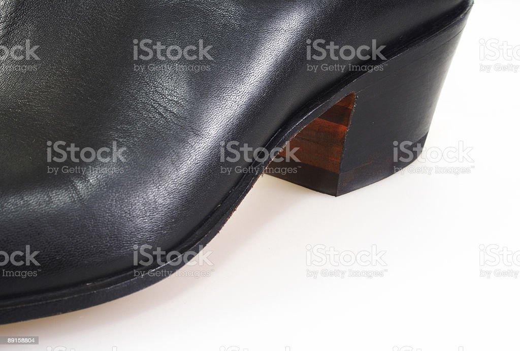 men's boot heel stock photo