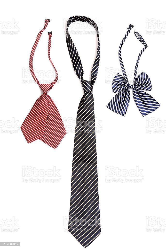 Men's bow tie ties, and women stock photo