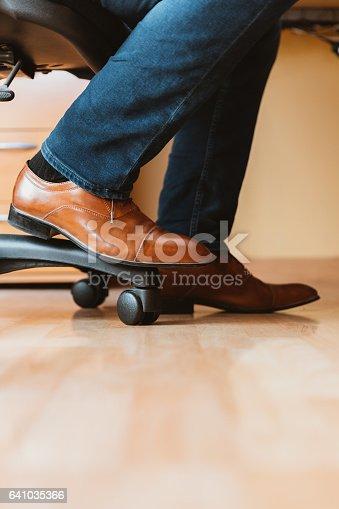 Men's Shoes with Blue Jeans