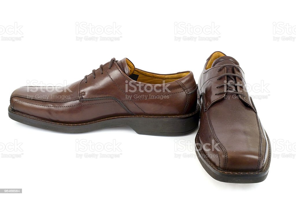Men's brown shoes royalty-free stock photo