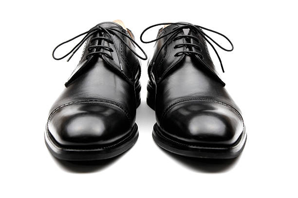 men's business shoes - pair stock photos and pictures