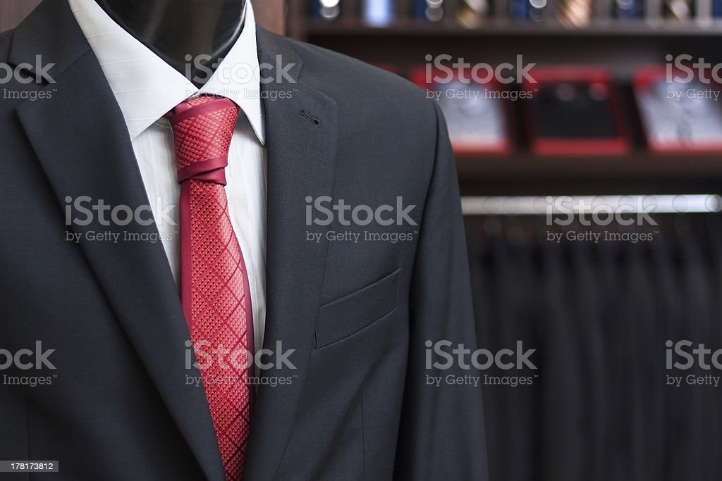 men's business suit on a dummy royalty-free stock photo