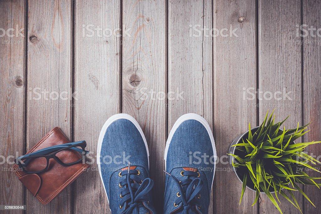Men's casual accessories stock photo