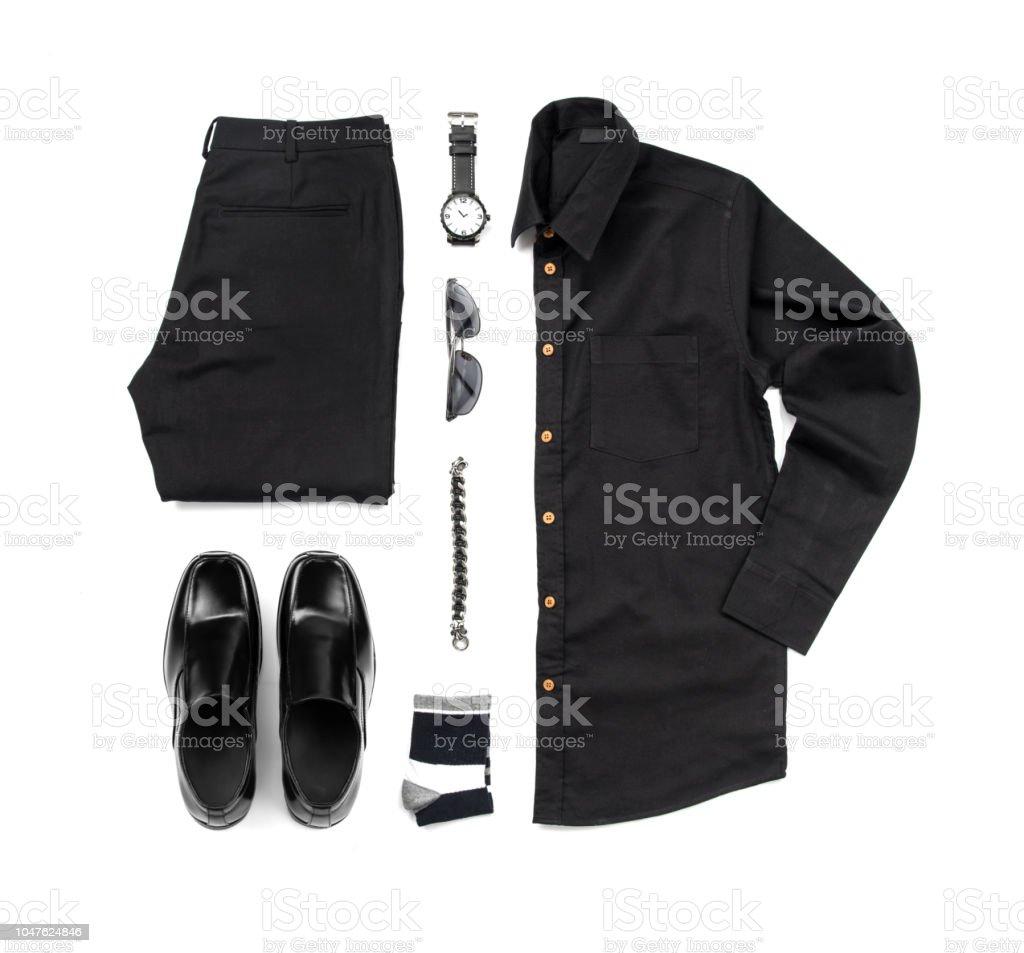 7845148b2f Trajes Casuales De Hombres Para Hombre Ropa Con Zapatos Negros Reloj ...