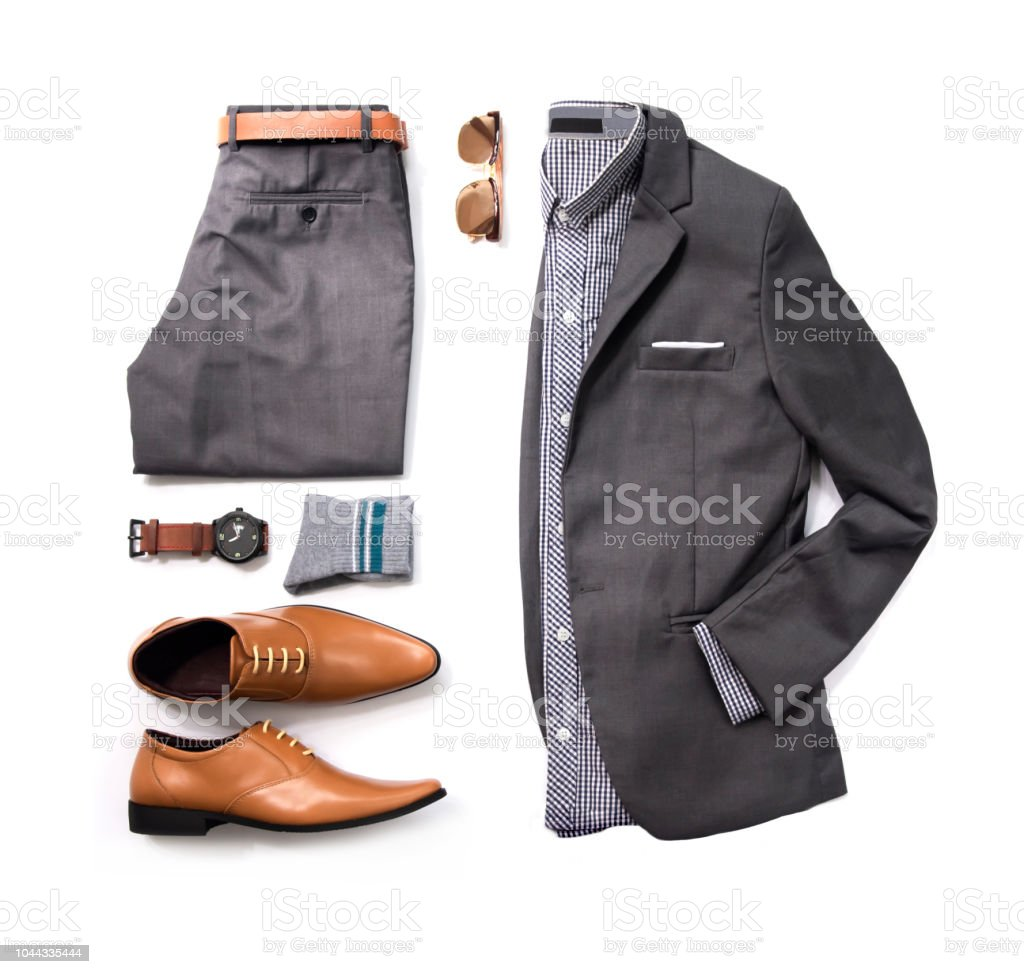4c2de6d32cd8b9 Herren Casualoutfits Für Mann Kleidung Mit Grauen Anzug Uhren ...