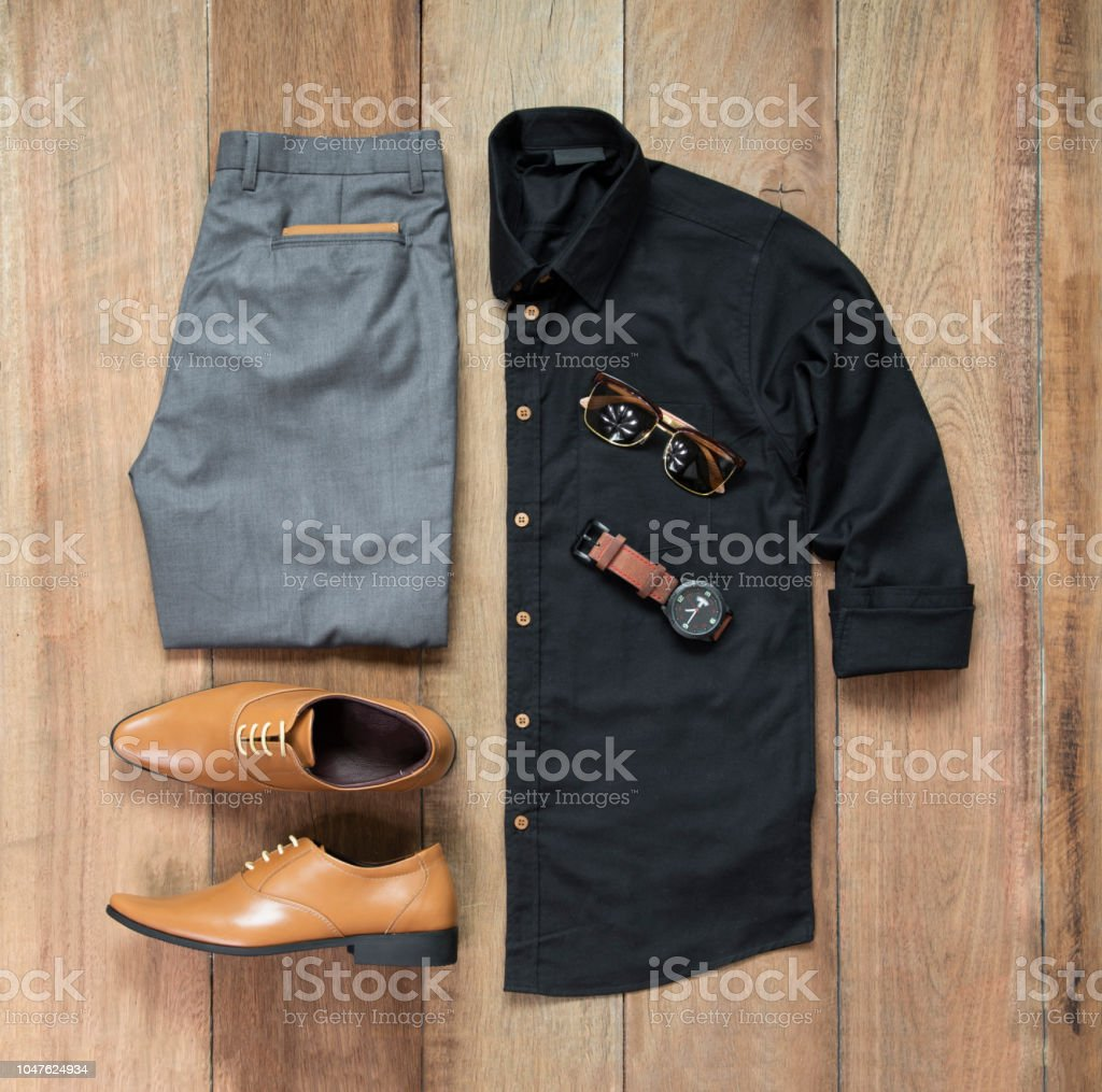 Mens Casual Outfits For Man Clothing With Office Shoes Watch
