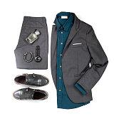 b30cf422be ... Trajes casuales de hombres para hombre ropa con zapatos de la oficina
