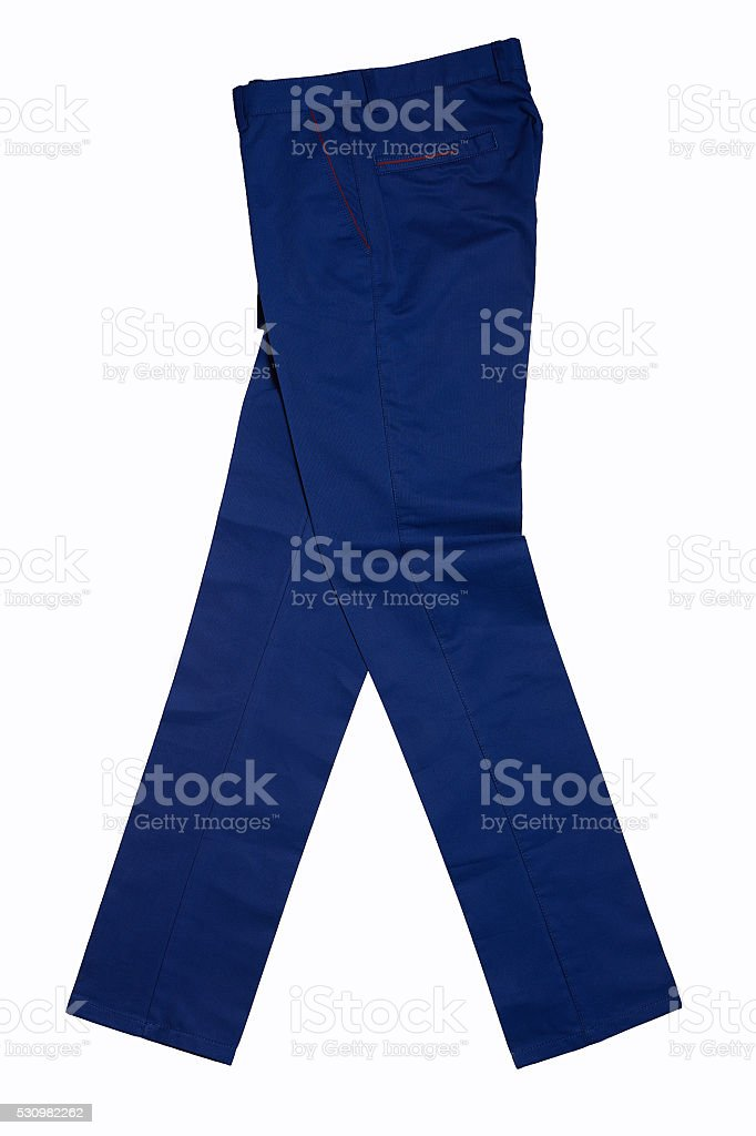 Men's casual pants stock photo