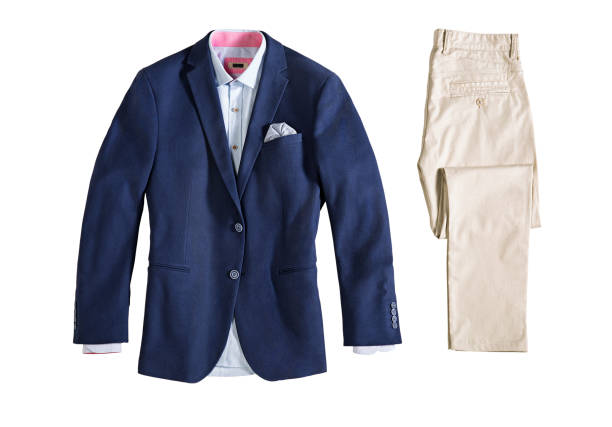 mannen kleding geïsoleerd op witte achtergrond - men blazer stockfoto's en -beelden