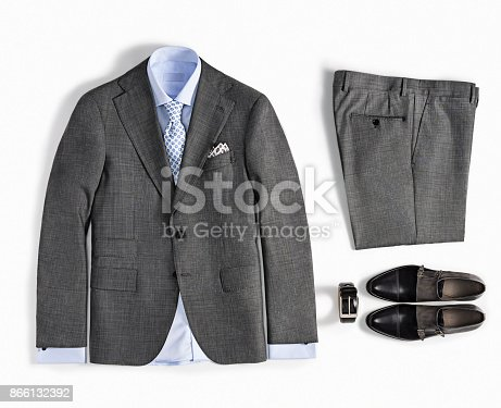 Men's clothes isolated on white background ( with clipping path)