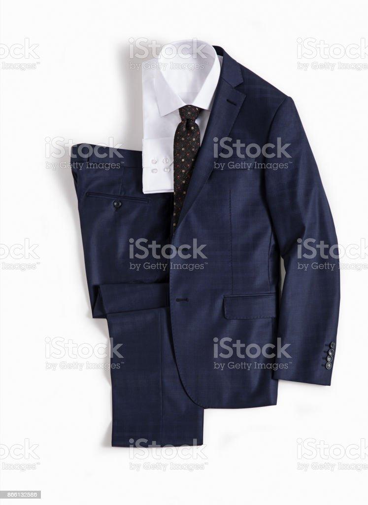 Herren Kleidung isoliert auf weißem Hintergrund – Foto