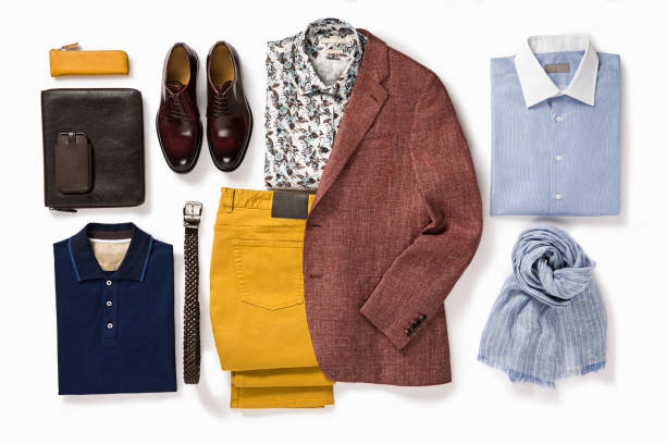 herrenbekleidung und accessoires - geschäftskleidung stock-fotos und bilder