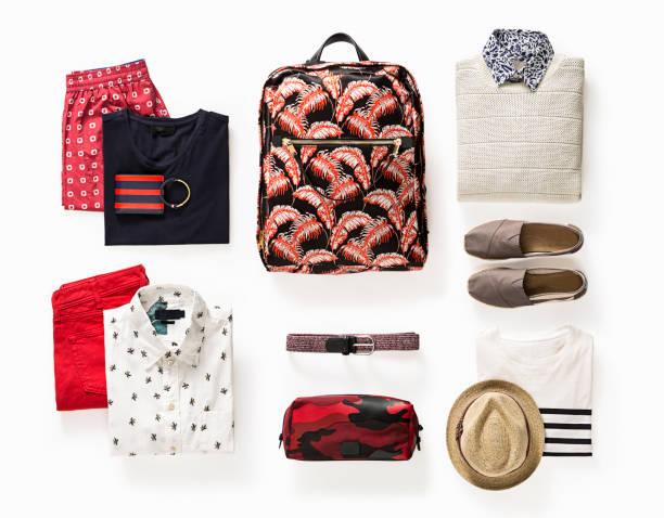 herrenbekleidung und accessoires - rotes oberteil stock-fotos und bilder