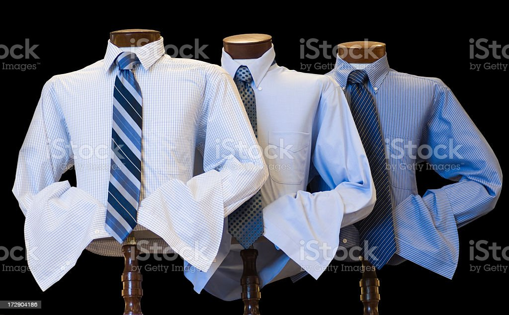 Mens Clothing Display of Shirts and Ties royalty-free stock photo
