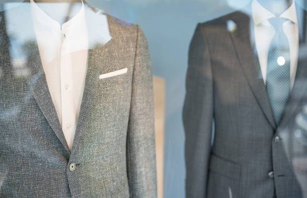 Men's clothing in a store stock photo
