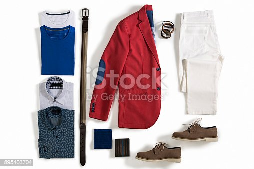 Men's clothing isolated on white background ( with clipping path)