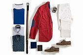 istock Men's clothing isolated on white background 895403704
