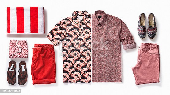 Men's clothing isolated on white background (with clipping path)