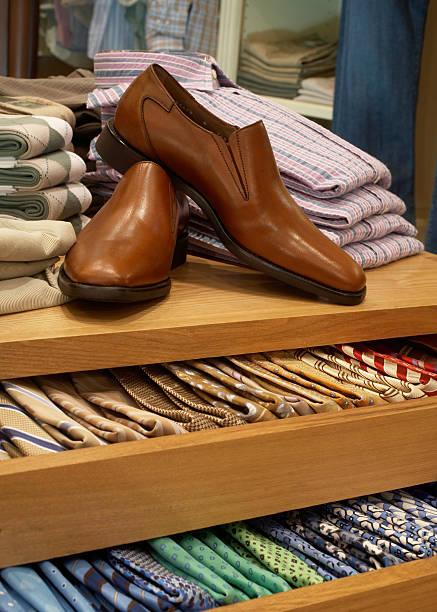 men's clothing store stock photo