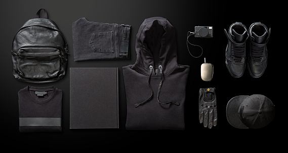 Men's clothing with personal accesorries