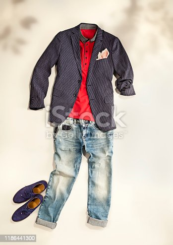 917262406istockphoto Men's clothing with personal accessorie 1186441300