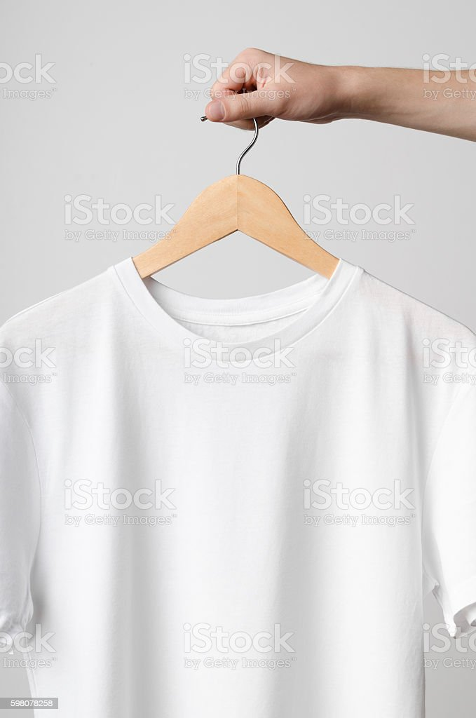 Men's Crew Neck T-Shirt Mock-Up - foto de stock