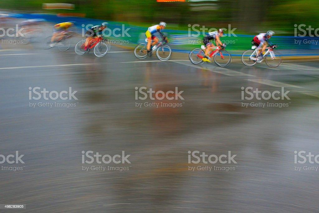 Men's Criterium Bicycle Race stock photo
